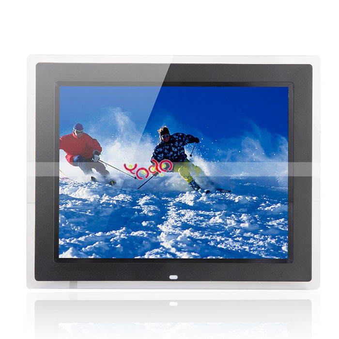"Hot Sale 15"" Multimedia TFT screen Digital Photo Frame Black"