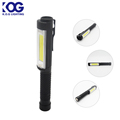 Pocket Aluminum COB LED Magnetic Pen Shape Work Light with Clip and Rubber Grip