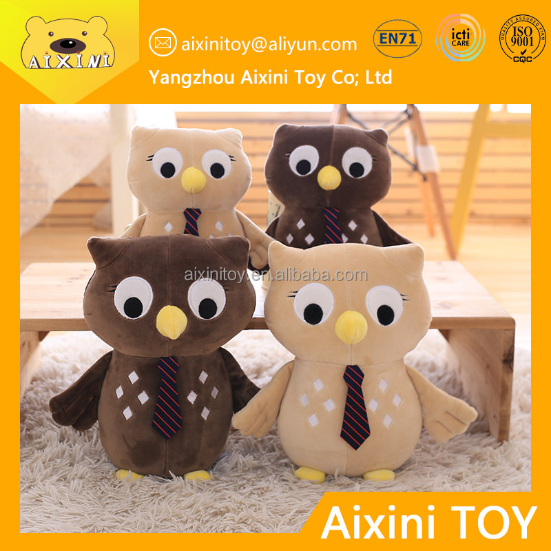 free shipping of elastic owl animal soft plush toy wholesale