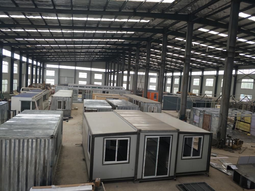 Foldable prefab container portacabin Container House Office one bedroom prefab movable tiny houses