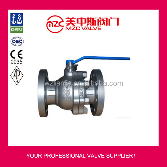 Stainless steel flange floating ball valve API Standard 300LB