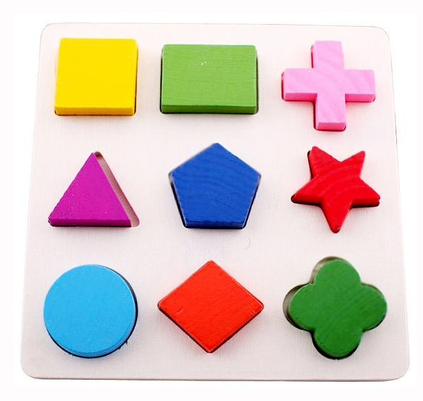 Wooden Shape cognitive puzzle for kids
