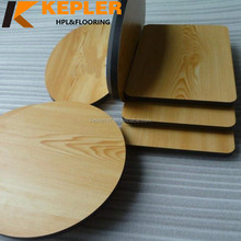 Kepler round square wood grain hpl laminate dining room table top waterproof phenolic compact board for tabletop