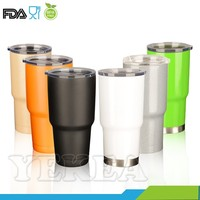 Tumbler plus -- 30oz double wall stainless steel vacuum insulated powder coated tumbler