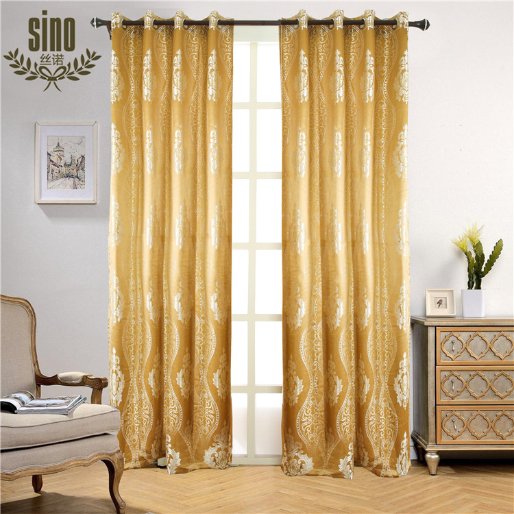 100% Polyester Thermal Jacquard Window Curtains