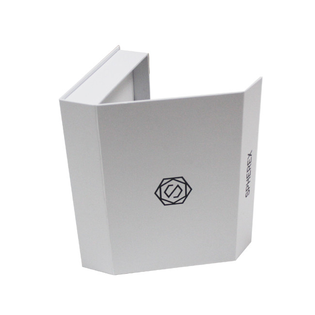 Wholesale Luxury Customized Cosmetic Magnetic Cardboard Paper Book Shape Packaging Gift Box with EVA Insert