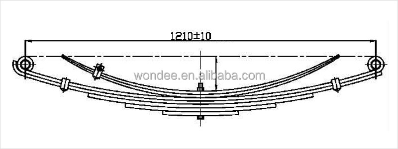 China Steel Heavy Duty Trucks Leaf Spring