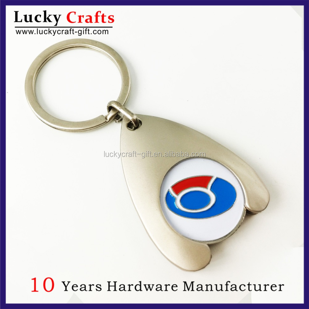 No Minimum Cheap Custom Metal Name Coin Holder Keychain For Sale