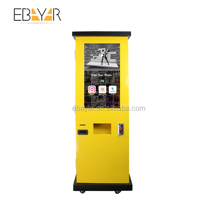 32inch free stand video advertising screen digital signage totem lcd touch screen kiosk display selfie photo booth