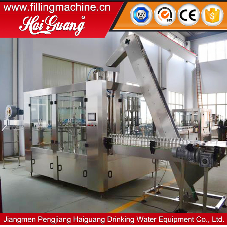Chinese Factory Hot Sale complete automatic bottling line pet/product line filling example