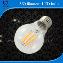 China direct manufacturer 2017 4W 6W 8W glass cover and aluminum base tungsten filament 220 volt light led bulbs with CE,ROHS