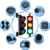 100mm stop go industrial led traffic light
