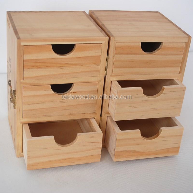 Luxury handmade wooden veneer jewelry box with pull drawer for Handmade wooden jewelry box