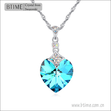 Btime Heart Pendant Crystal from Swarovski necklace