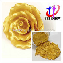 24K golden luster pearl pigment for metallic paint flower