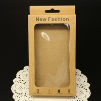 Customized Neutral Brown Paper Packaging for iPhone 4 4s 5 5s Samsung Xiaomi Huawei Phone case Packing Box