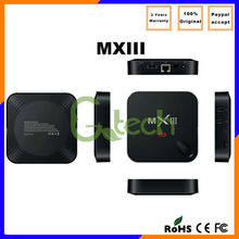 MX3/MXiii 2GB Ram free movies tv box Amlogic S802 XBMC Quad Core CPU Android TV Box 4K smart tv tuner box for lcd monitor