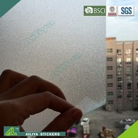 BSCI factory audit non-toxic vinyl pvc self adhesive frosted new design decorative electrostatic film window