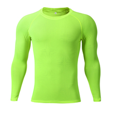 Round Neck Gym Compression Tops Long Sleeve Sportswear Quick Dry Full Sleeve T-shirt for <strong>Men</strong>