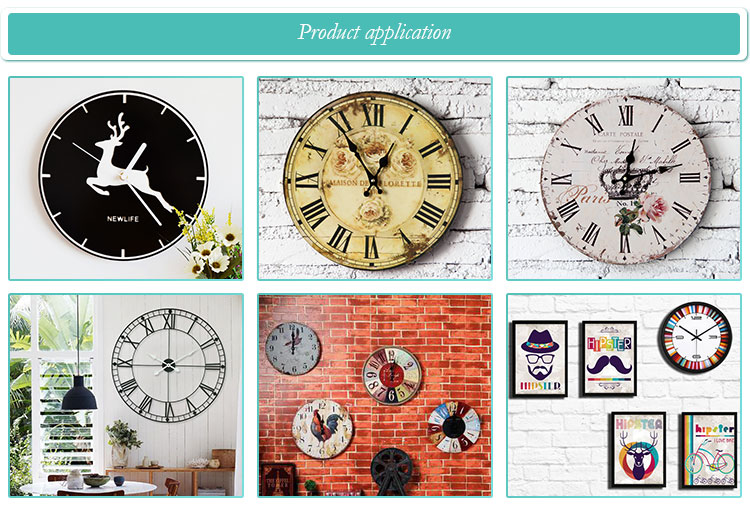 Hot sell outdoor vintage europen different themes style customized metal wall clock with home decor