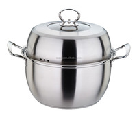 SHINY D010 Stainless steel single layer dim sum steamer with cupsule bottom