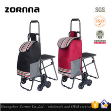 Top 10 Fashion Brands Lady Fashion Foldable Customized Logo Style Shopping Trolley Bag