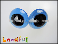 30mm Blue Plush Teddy Bear and Animal dolls Plastic Safety Eyes