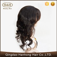 Beautiful wave 100% human hair wig so soft and smooth human hair topper wig