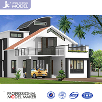 3D architectural exterior rendering for villa planning