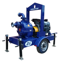 Strong Mobile Trailer Self-priming Diesel Engine Sewage Pump For Emergency Rescue