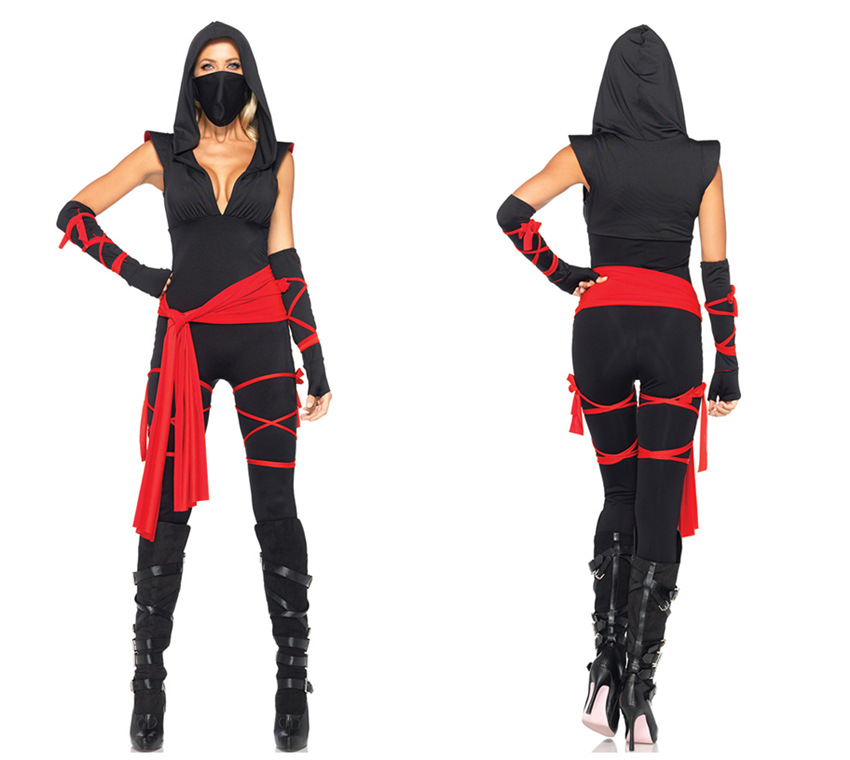 mask women black ninja stage cosplay costume PS-PSF1689