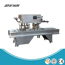 Customized Professional food Tray machine for sealing cups linear cup instant pasta