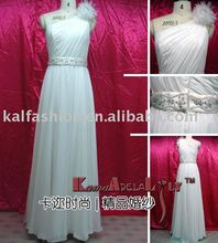 EB963 One shoulder Asia Wedding dress with hand-flower formal dress
