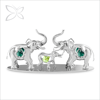 Crystocraft Hot Item Metal Elephant Figurines Decorated with Crystals from Swarovski Home Decoration