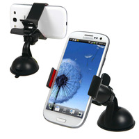 Universal 360 Swing Car Mount Holder Cradle Bracket Suction Cup Kit For Mobile Phone GPS PDA