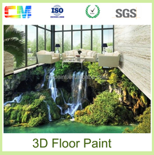 New products 3d epoxy floor paint for concrete decorative floor coating