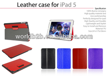 Leather hard Stand Case For iPad Air,Stands in Portrait and Landscape