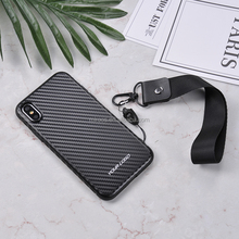 Luxury Carbon fiber grain PC TPU Hybrid mobile accessories for iphone 6 to X phone case