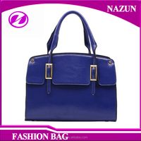 Newest Candy Colors Tote Bags Girls Unique Watch Clasp PU Shoulder Bag