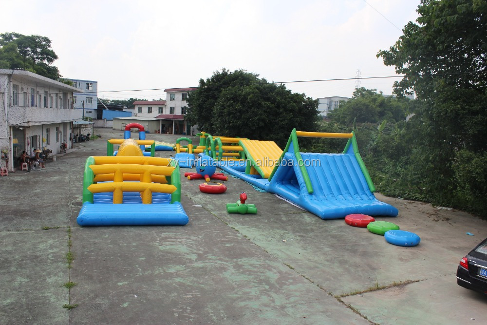 floating inflatable obstacle course water park for adults water park party supplies