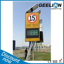 Portable Solar VMS Sign Trailer Traffic Safety Sign