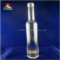 Small decorative clear glass bottle wholesale