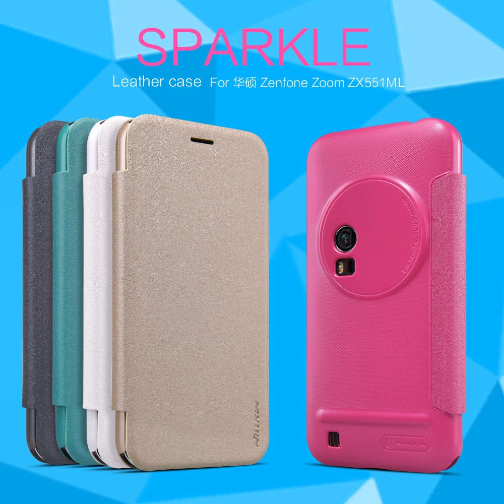 Nillkin Sparkle Flip Leather cover Mobile Phone case for Asus Zenfone Zoom ZX551ML
