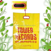 Wholesale die cut printed plastic clothes package bag