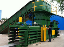 High quality factory direct full automatic horizontal waste cardboard press baler