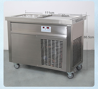 1+6 ice cream machine fryer machine ice pan frying machine make roll ice cream with 6 holes