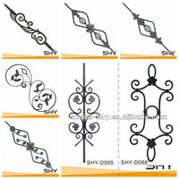wrought iron cast iron security usage precast baluster