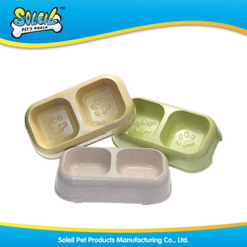 Hot Sale Anti Slip Double Plastic Pet Feeder Bowl
