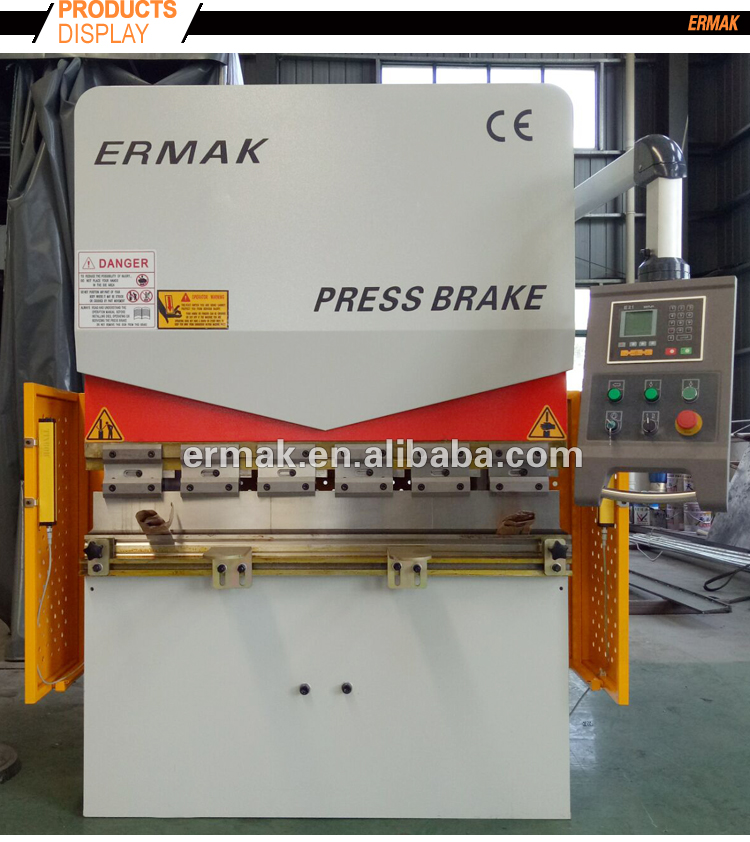 ERMAK 1000mm 1200mm 1500mm Laser guard small vertical 100ton CNC mini hydraulic plate bending industrial press brake machine
