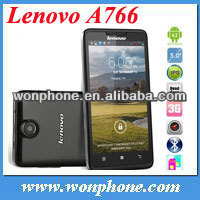 Original Lenovo A766 5 Inch IPS Mtk6589M Quad Core Mobile Phone Russian 512MB 4GB 5.0mp